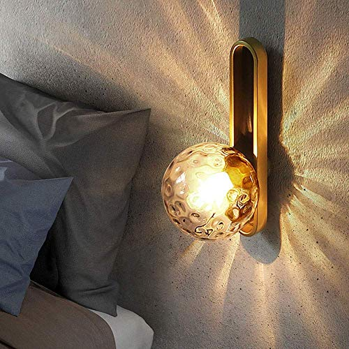 YANQING Duurzame Amerikaanse Vereenvoudigde Woonkamer Achtergrond Wandlamp Corridor Spiegel Koplamp Glas Bal Slaapkamer Koplamp 39 * 18CM Verlichten Uw Leven