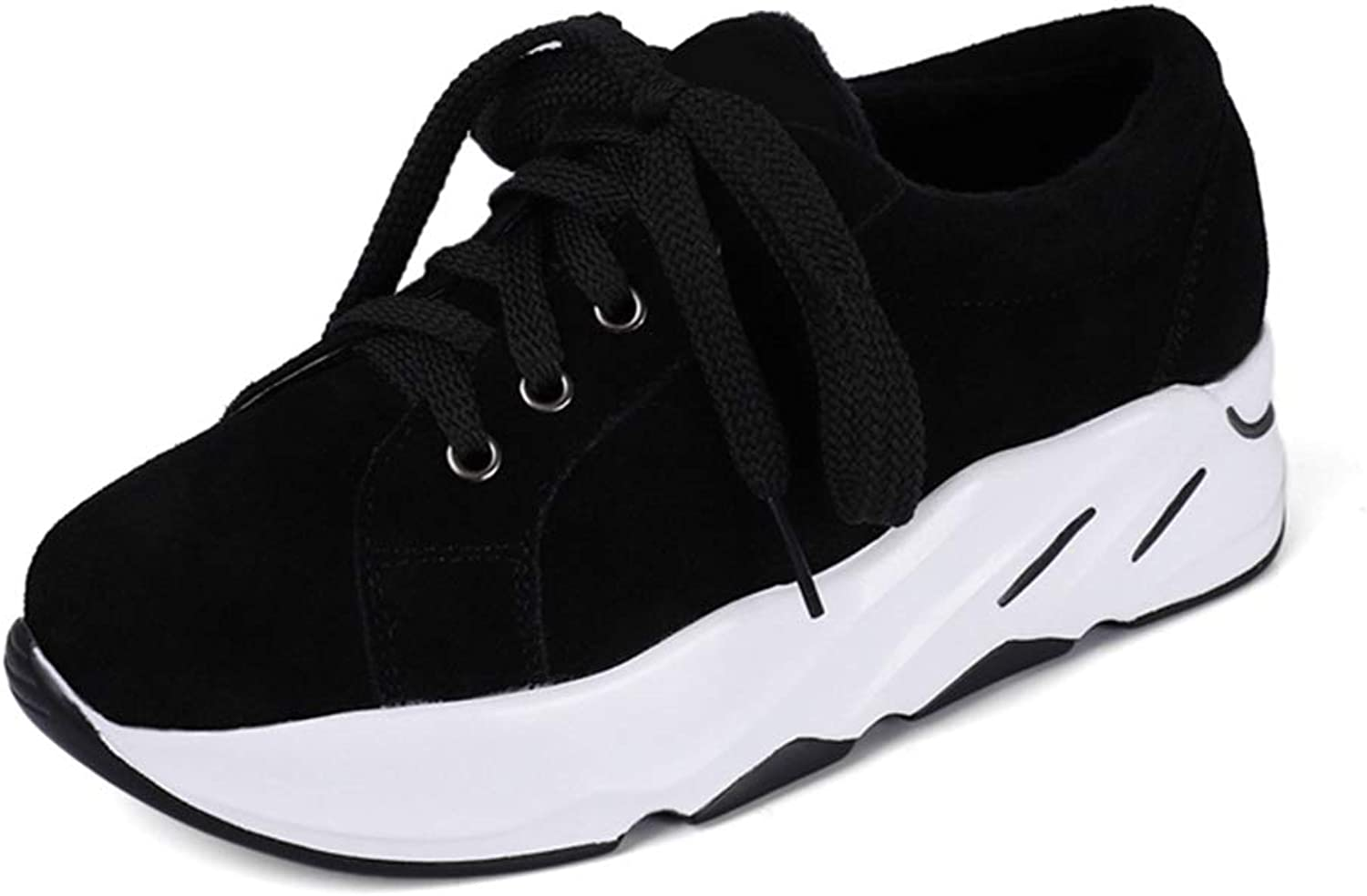 GIY Women Comfortable Platform Sneakers Breathable Low Top Casual Walking shoes