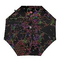 カラフルなドット【2021最新 & 逆折り式】 折りたたみ傘 ワンタッチ 自動開閉 メンズ傘 大きい 耐風 撥水 晴雨兼用 男子日傘 Uvカット 紫外線遮蔽 折り畳み傘 メンズ レディース 梅雨対策 台風対応