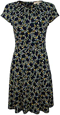 Michael Kors Women's Hayden Shirred Neck Dress