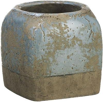 Brass Finish Benzara BM179587 Hammered Pattern Ceramic Vase