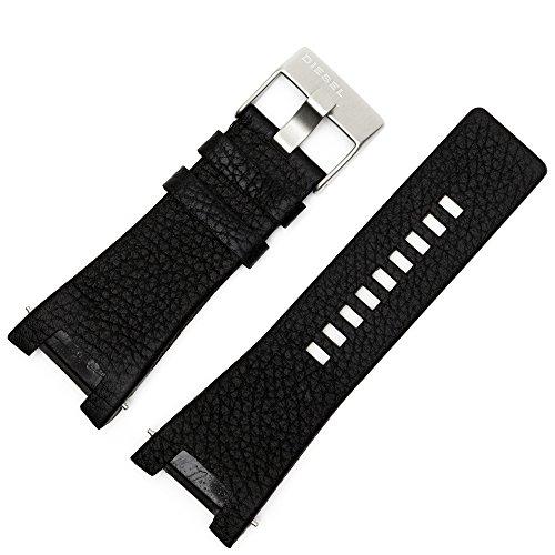 Bracelet de montre Diesel 32 mm en cuir noir DZ-1215