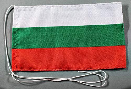 Buddel-Bini Bulgarien 15x25 cm Tischflagge in Profi - Qualität Tischfahne Autoflagge Bootsflagge Motorradflagge Mopedflagge