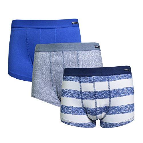 Terra Lycra Underwear Trunk for Men Wide WaistbandampHighElastic Boxer Brief 3Pcs