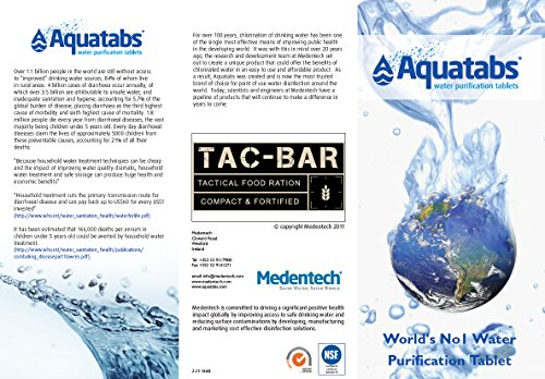 Expedition Research TAC-H2O Aquatab Water Purification Tablets