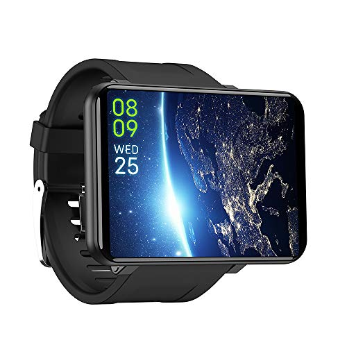 aimitek LEMT Bluetooth 4G 2700mAh Smart Watch, Android 7.1 Wearable Devices Fitness Tracker Nano Sim Unlocked Phone Mate with 5MP Camera GPS WiFi Smartwatch for Android iOS (Black, 3G+32G)
