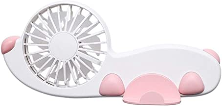 Handheld Fan Desktop Handheld Usb Fan Mute Desktop Desktop Mobile Phone Stand Customization zcaqtajro (Color : Pink)