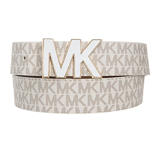 Michael Kors MK Signature Plaque Belt 553504 White M