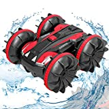 FREE TO FLY Remote Control Car Boat Truck - 2020 New Edition Toys Gift 1:24 4WD 2.4Ghz Amphibious RC Vehicle Off Road Stunt Car for Kids 3 4 5 6 7 8 Years Old