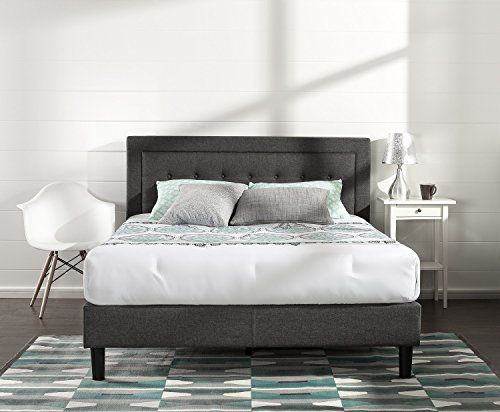 Zinus Dachelle Upholstered Platform Bed Frame / Mattress Foundation / Wood Slat Support / No Box Spring Needed / Easy Assembly, Double