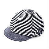 Gorra de béisbol para bebé, de algodón, para niñas, niños y niñas, protección contra el sol, flexible, sombrero de playa, recién nacido, diseño de rayas, de verano, para niños de 3 a 12 meses