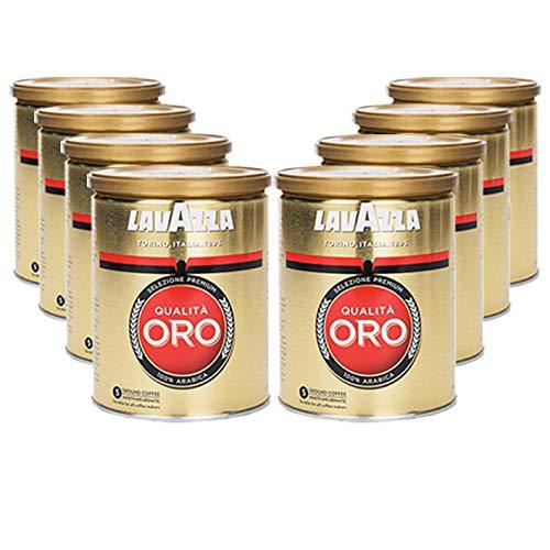 Lavazza Kaffee Qualità ORO, gemahlen in Dose (8 x 250g)