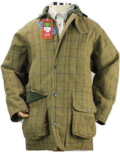 Hunter Outdoor Tweed-Jacke für Herren, Dunkelgrün, XL