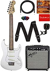 """24"""" scale length, 1.5"""" shorter than a standard-size Stratocaster; 36"""" overall length, 8"""" shorter than a standard-size Stratocaster """"C""""-shaped maple neck 20-fret fingerboard Three single-coil Stratocaster pickups Hardtail 6-saddle bridge"""
