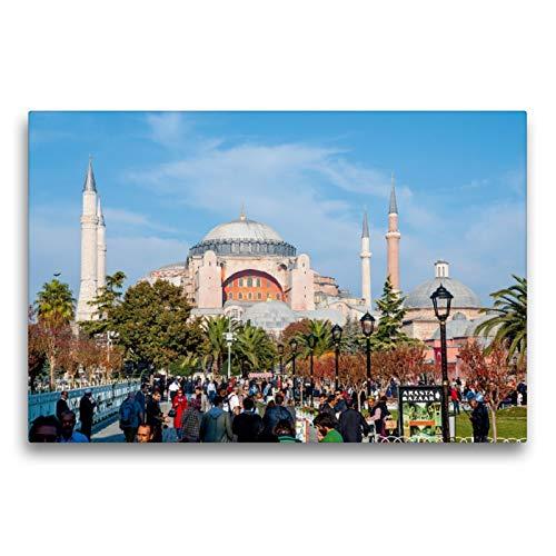 CALVENDO Premium Textil-Leinwand 75 x 50 cm Quer-Format Hagia Sophia, Leinwanddruck von Peter Härlein