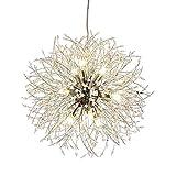 Vikaey Lustre en cristal pissenlit, feu d'artifice Sputnik, pendentif lampe pour salle à manger, chambre à coucher, cuisine, salon (12 lumières, chromé)