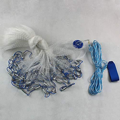 Xian 14Ft 4.2M Hand Überwurf Fishing Net Spin Bait Sinker Kleiner Mesh Equipment Hand gegossen aus Netz Bindfäden einfach Überwurf Angeln Net Spin Netzwerk Köder + Sinker