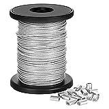 304 Alambre de acero inoxidable de 1 mm de cuerda de 1,2 mm 1,5 mm superfino suave alambre de acero inoxidable pequeño carrete de alambre de acero (Size : 1.5mm)