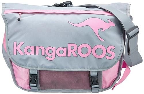 KangaROOS WASILLA Postbag B0264 Damen Umhängetaschen 50x30x18 cm (B x H x T), Rot (lilli pilli 662 662)