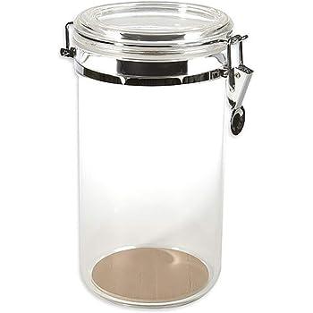 Prestige Import Group AJ25 25 Count Acrylic Humidor Jar with Humidifier and Spanish Cedar Interior Lining on Bottom