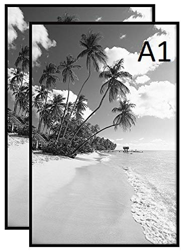 MND Dealings Stunning Large A1 Eton,Wood,Poster Picture Frame Supply with backboard and Styrene included for portrait and landscape display Wall Hanging (59.4 x 84.1 cm) Black