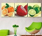 TTJX Frutas Pintura al óleo Digital Naranja Fresa Imagen de Arte Cuadros sin Marco Pintura por números 50x50CM Sin Marco 60x60cm Sin Marco