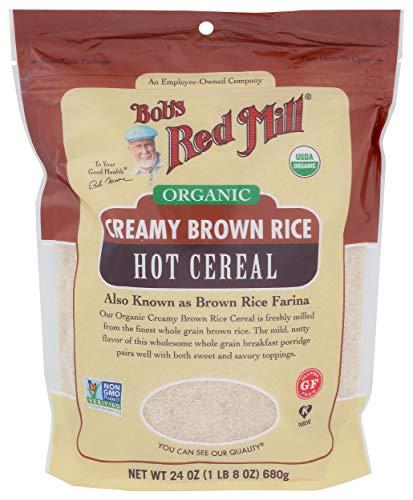 Bob's Red Mill Organic Brown Rice Farina Creamy Rice Hot Cereal, 24 Oz