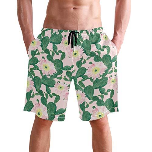 WTZYXS Mannen Geel en Wit Camouflage Mode Swim Trunks Shorts Casual Zwemmen Korte Printing Board Zwem