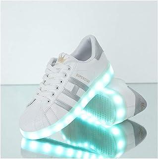 XIEZI Zapatos De Luces,Tenis Luminosos LED LigeroTranspira