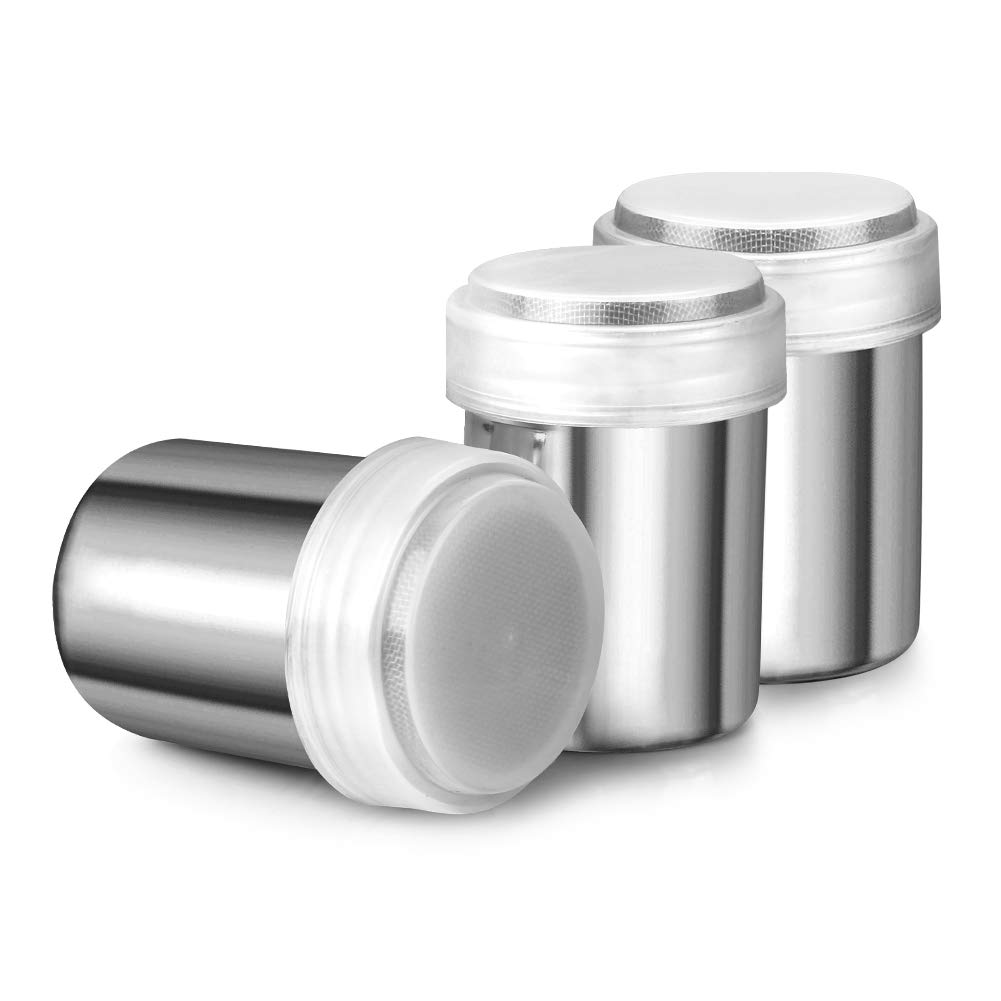Accmor Stainless Powder Shakers Chocolate