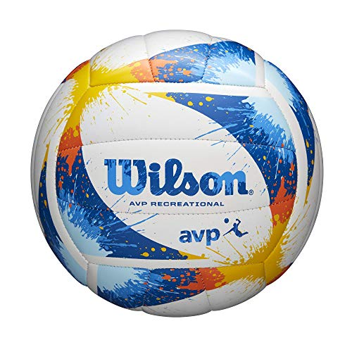 Wilson AVP Recreational Volleybälle, Unisex-Erwachsene, Wilson AVP Splatter Volleyball, blau / weiß