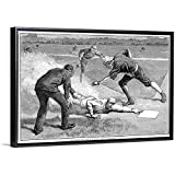 T. De Thulstrup Floating Frame Premium Canvas with Black Frame Wall Art Print