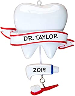 Hobby Home Accessories Dentist Personalized Christmas Tree Ornament 2019 | Christmas Decoration Ornament | Tooth Dangle Toothpaste Brush