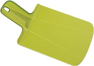 Joseph Joseph 60051 Chop2Pot Foldable Plastic Cutting Board 12.5-inch x 6.5-inch Chopping Board Kitchen Prep Mat with Non-Slip Feet 3.5-inch Handle Dishwasher Safe, Mini, Green