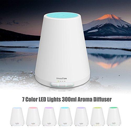 Aroma Diffuser, 300ml Ultraschall Luftbefeuchter, Aromatherapie Öl Diffusor mit 7 Farben LED Lichter für Schlafzimmer, Haus , Babies, Yoga, Büro, SPA, usw