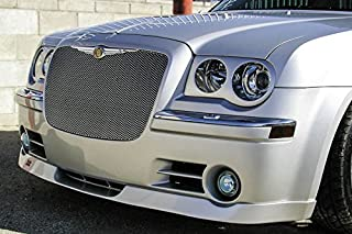 Grillcraft CHR3000S MX Series Silver Upper 1pc Mesh Grill Grille Insert for Chrysler 300