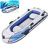 LTLWL Barca Hinchable PVC Duradero Challenger Portátil Bote Inflable Kayak Hinchable Explorer Balsa para Rafting Gran Opción para Los Amantes de La Pesca o Los Deportes Al Aire Libre,231cmx130cm