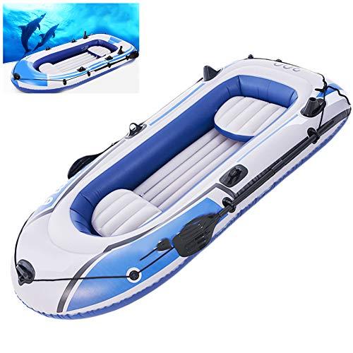 LTLWL Aufblasbares Schlauchboot Langlebiges PVC Challenger Boot Set Klappbar Hydro Force Raft Badeboot Schlauchboot Gute Wahl für Angler Oder Outdoorsportl,272cmx152cm