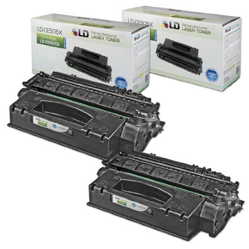LD Compatible Toner Cartridge Replacement for HP 05X CE505X High Yield (Black, 2-Pack)