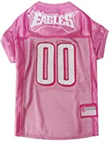 NFL Philadelphia Eagles Dog Jersey Pink, X-Small. - Football Pet Jersey in Pink