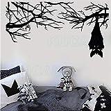 Vinyll Frohe Weihnachten Wandtattoo Cartoon Gothic Spinne Fledermaus Halloween Glas Aufkleber Diy Dekoration Tapete 79X43 Cm Wandaufkleber Tapete 3D