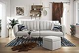Novogratz 2115429N Brittany Sofa Futon, Premium Linen Upholstery and Wooden Legs, Grey Linen