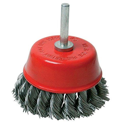 Silverline 244983 - Cepillo de vaso de acero trenzado con vástago (75 mm)