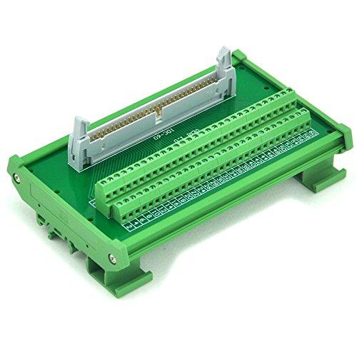 Electronics-Salon idc-60 DIN Schiene montiert Schnittstelle Modul, Breakout Board, TERMINAL BLOCK.