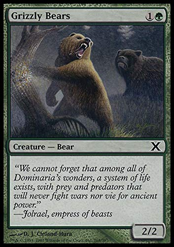 Magic The Gathering - Grizzly Bears (268/383) - Tenth Edition