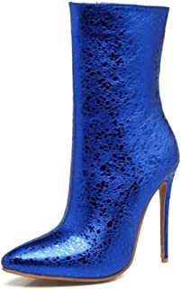 LaBiTi Pointed Toe Ankle Boots Stiletto High Heels Party Wedding Pumps Dress Shoes for Women