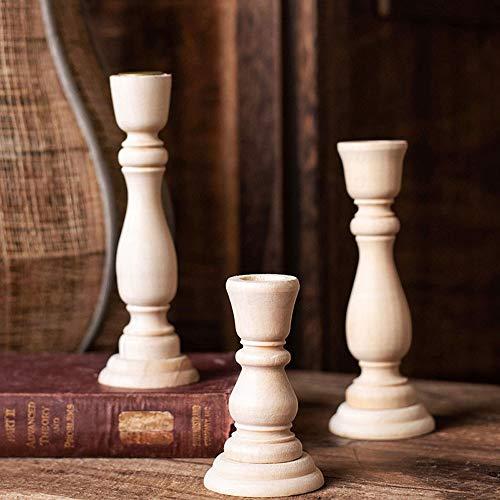 Barley33 Candelabro de Madera - Candelabro de Madera Artesanal Candelabro Candelabros Decoraciones de Boda