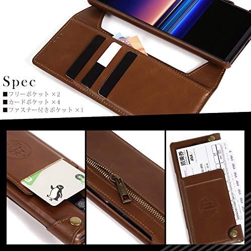 Esperanza最高級本革iPhoneXiPhoneXsスマホケース取り外し可能財布としても使える手帳型マグネット式(iPhoneXXs,クラシックブラウン)