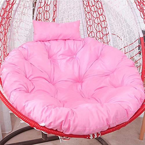 Opknoping mandje Kussen, Bird's Nest Rocking Chair Kussen, Swing Single hangstoel Kussen, Kussen, uitneembare en wasbare rond kussen, rotan Cradle Kussen (Color : F, Size : Diameter 115CM)