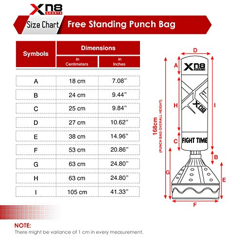 XN8 5.5ft Free Standing Punch Bag Stand Heavy Duty Kick Boxing Dummy Target Martial Arts MMA Training